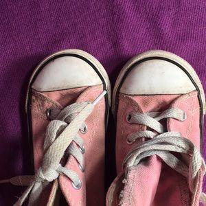 Converse Shoes - Converse Pink High tops SZ 7 infant